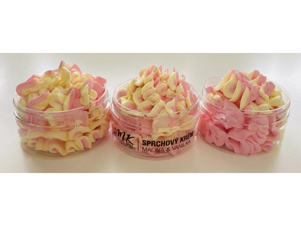 Malinový vanilkový sprchový krém